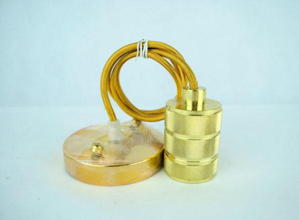 Kovové svietidlo RETRO, zlatá farba (1)