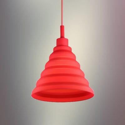 Moderný-závesný-silikónový-luster-s-textilnou-šnúrou-v-červenej-farbe2
