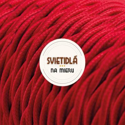 Kábel dvojžilový skrútený v podobe textilnej šnúry v červenej farbe