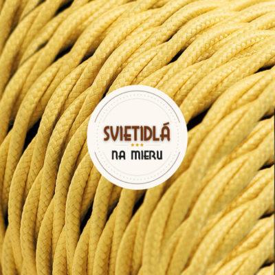 Kábel dvojžilový skrútený v podobe textilnej šnúry v žltej farbe, 2 x 0.75mm, 1 meter (2)