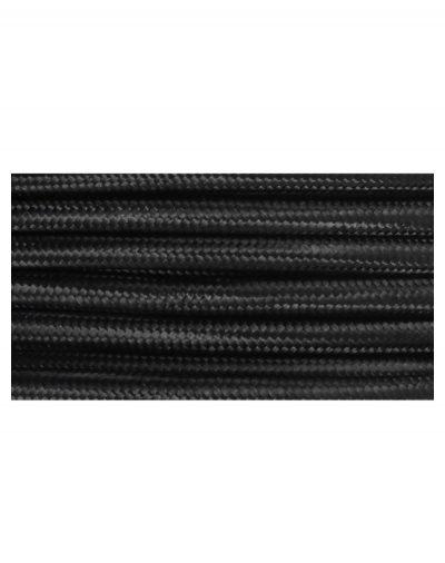 Kábel dvojžilový v podobe textilnej šnúry v čiernej farbe, 2 x 0.75mm, 1 meter (2)