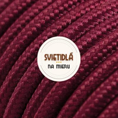 Kábel dvojžilový v podobe textilnej šnúry v tmavo červenej farbe