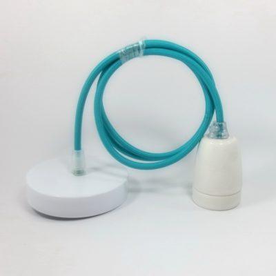 Porcelánové-závesné-svietidlo-s-textilným-káblom-v-modrej-farbe