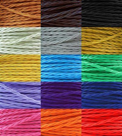 Textilné káble skrútené