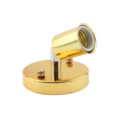 Jednoduché stropné svietidlo v modernom štýle - 180° rotácia, zlatá farba (2)