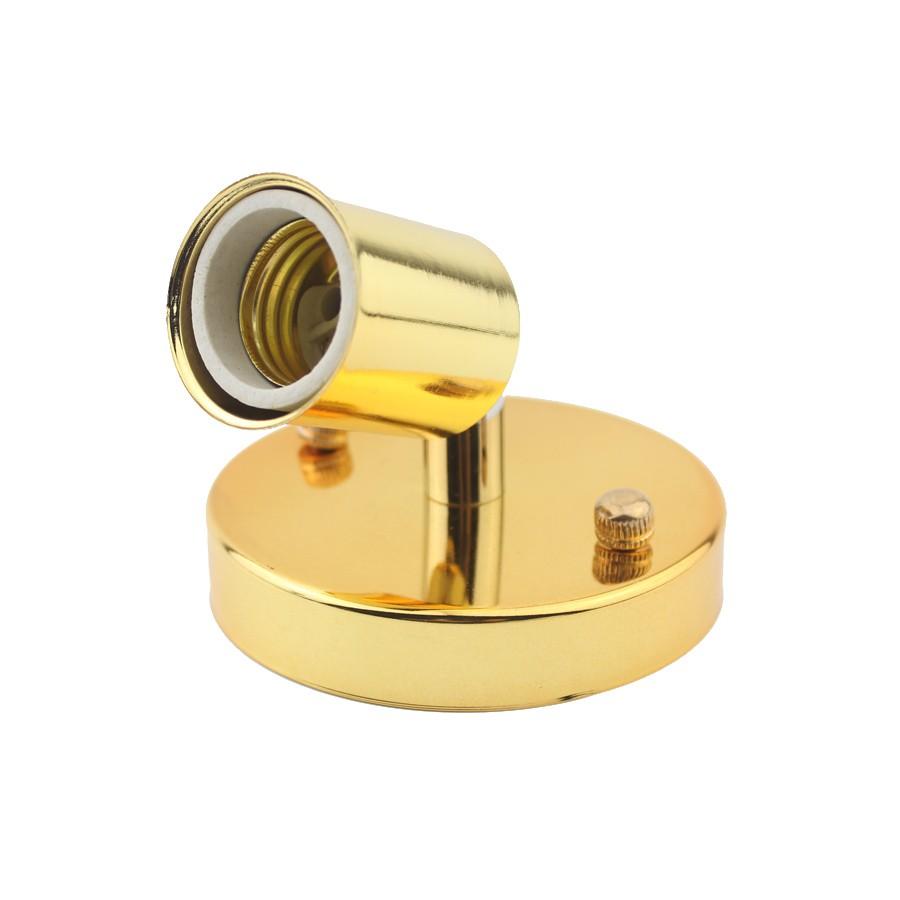 Jednoduché stropné svietidlo v modernom štýle - 180° rotácia, zlatá farba