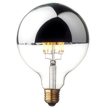 Zrkadlová dekoračná žiarovka 4W, E27, 350lm, SHINES je prekrásna moderná žiarovka obsahujúca zrkadlové sklo, ktoré vytvára jedinečné efekty na stenu