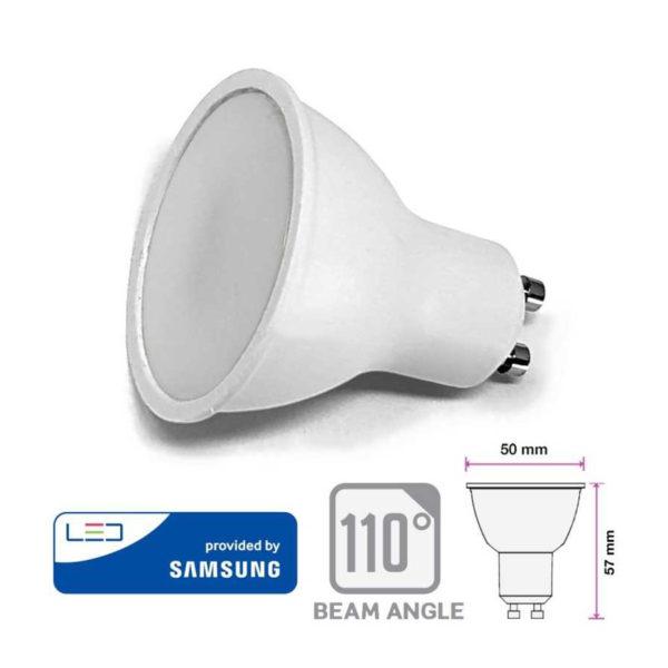10W LED bodová žiarovka GU10, SMD Samsung Chip, 1000lm
