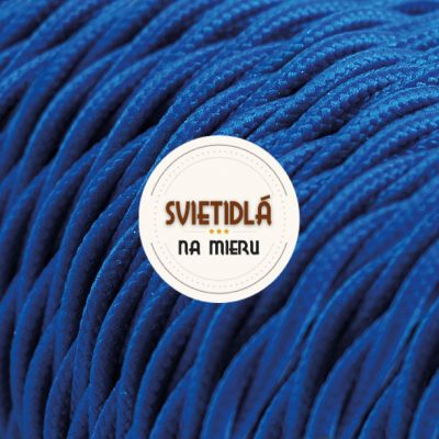 Kábel dvojžilový skrútený v podobe textilnej šnúry v tmavo modrej farbe, 2 x 0.75mm, 1 meter (2)
