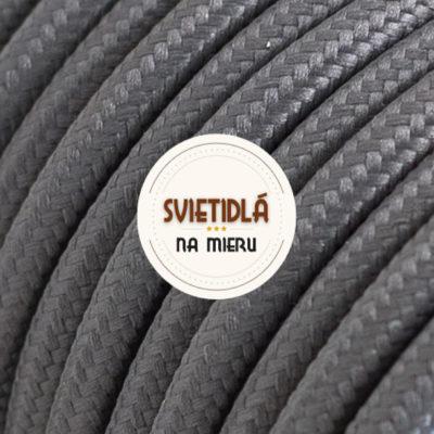 Kábel dvojžilový v podobe textilnej šnúry v šedej farbe