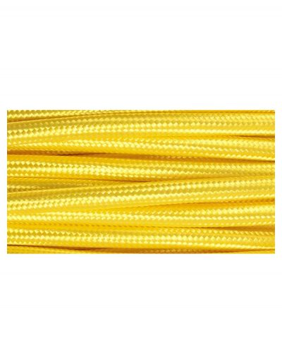 Kábel dvojžilový v podobe textilnej šnúry v žltej farbe, 2 x 0.75mm, 1 meter (2)
