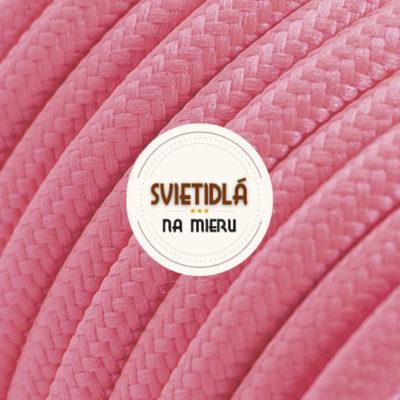 Kábel dvojžilový v podobe textilnej šnúry v ružovej farbe, 2 x 0.75mm, 1 meter (2)