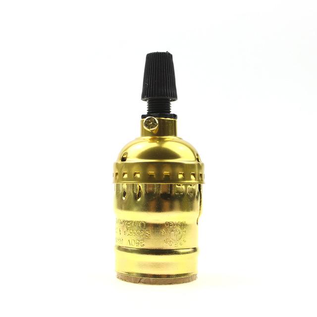 Retro objímka E27 • hliník • zlatá