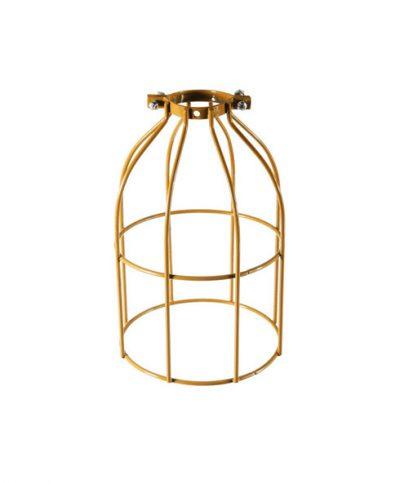 Tienidlo vo forme klietky v zlatej farbe  •  oceľ  •  ručná výroba2