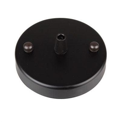 Závesná okrúhla stropná rozeta • kovová • čierna