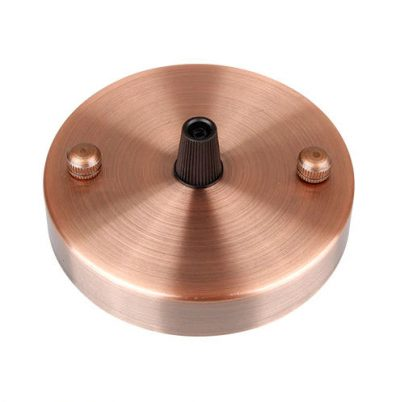 Závesná okrúhla stropná rozeta • kovová • bronzová