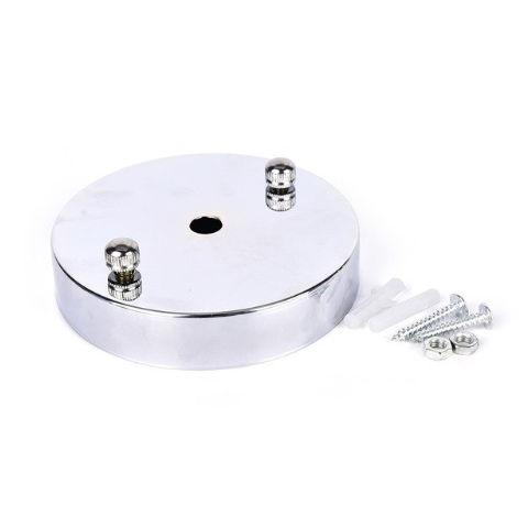 Závesný okrúhly stropný držiak • kovový • strieborná