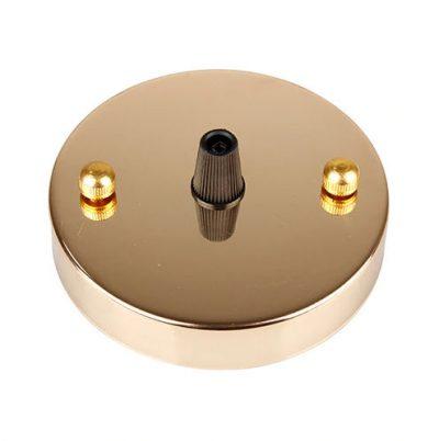 Závesný okrúhly stropný držiak • kovový • zlatá