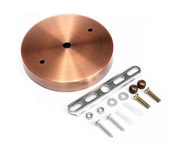 Závesný okrúhly stropný držiak • kovový • bronzová2