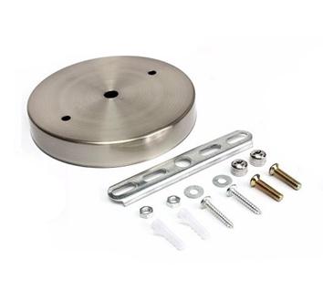 Závesný okrúhly stropný držiak • kovový • niklová1