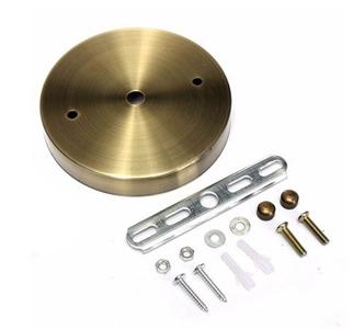 Závesný okrúhly stropný držiak • kovový • staromosádzna1