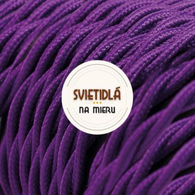 Kábel dvojžilový skrútený v podobe textilnej šnúry v tmavo fialovej farbe