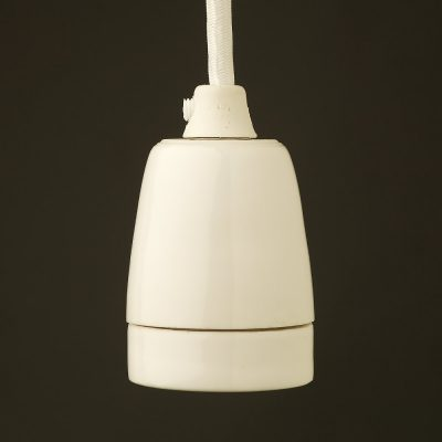 Kvalitná porcelánová objímka E27 • biela (4)