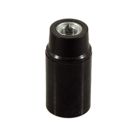 Lakovaná bakelitová objímka E14 • čierna