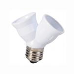 Rozdvojka pätice E27 na 2x E27 pre LED a úsporné žiarovky (110V ~ 260V)