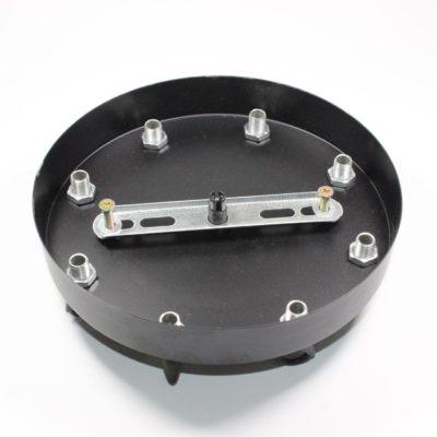 Stropný plastový držiak na svietidlo • so závesným 8-hákom • čierna (2)