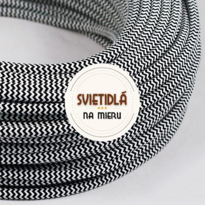 Kábel-dvojžilový-v-podobe-textilnej-šnúry-so-vzorom-BlackWhite-2-x-0.75mm-1-meter-2