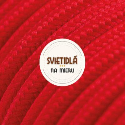 Kábel dvojžilový v podobe textilnej šnúry v červenej farbe