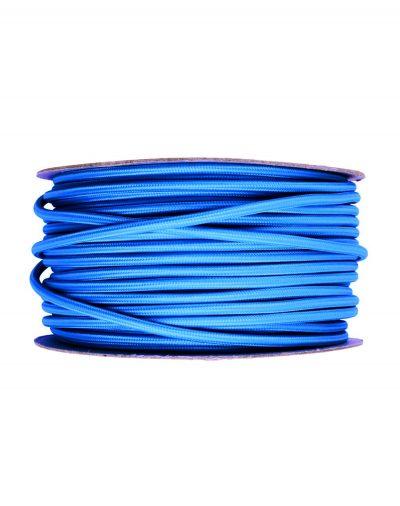 Kábel dvojžilový v podobe textilnej šnúry v tmavo modrej farbe (1)