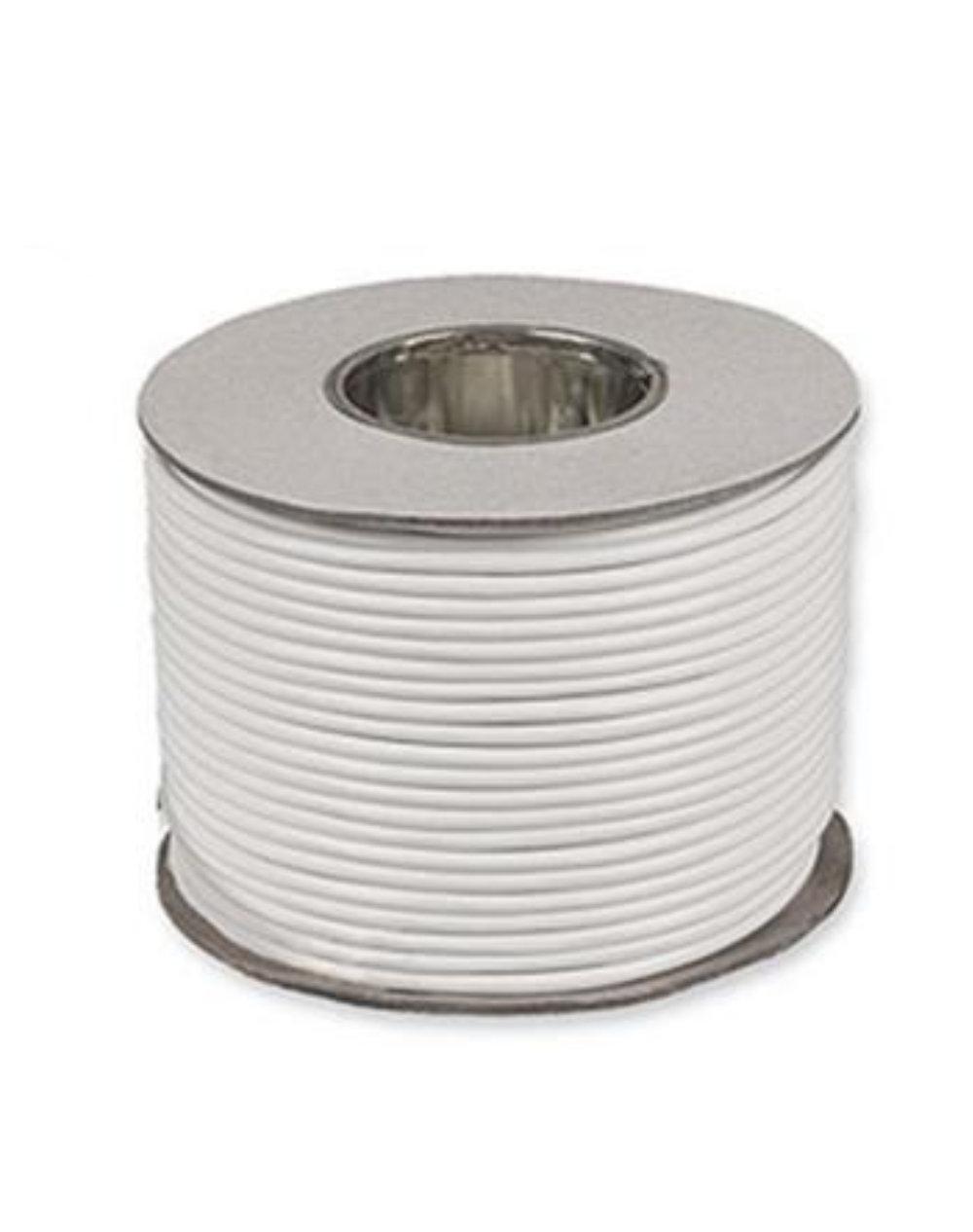 Kábel dvojžilový z PVC v bielej farbe, 2 x 0.75mm, 1 meter