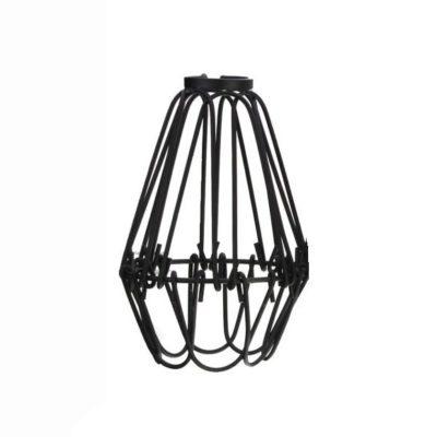 Tienidlo vo forme nastaviteľnej klietky v čiernej farbe. Dokonalé zapadá do podkrovných bytov, reštaurácií alebo hotelov. Dodáva ideálny nádych farby k čiernym a bielym stenám (1)