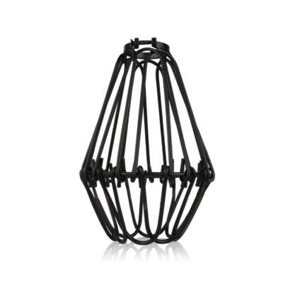 Tienidlo vo forme nastaviteľnej klietky v čiernej farbe • oceľ • ručná výroba