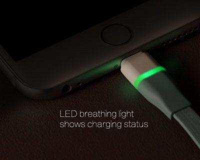 LED lightning kábel pre Apple zariadenia, 100cm, automatické odpojenie (2)
