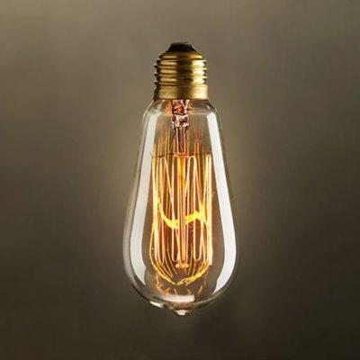 EDISON žiarovka - MINI TEARDROP - E27, 40W, 150lm - je žiarovka z retro kolekcie EDISON v tvare sviečky z minulého storočia. (1)