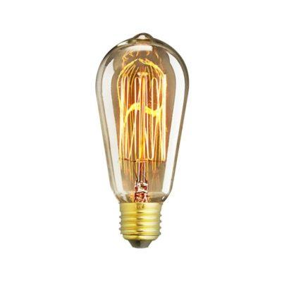 EDISON žiarovka - MINI TEARDROP - E27, 40W, 150lm - je žiarovka z retro kolekcie EDISON v tvare sviečky z minulého storočia. (3)