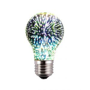 3D FIREWORKS, LED Dekoratívna žiarovka - Classic, E27, 5W, 100lm