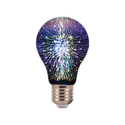 3D FIREWORKS, LED Dekoratívna žiarovka - Classic, E27, 3W, 200lm