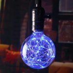 Dekoračná LED žiarovka EDISON, E27, 150lm, Globus, Modrá
