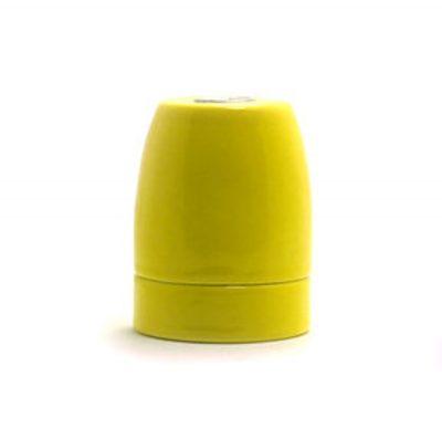 Kvalitná porcelánová objímka E27 • žltá (3)