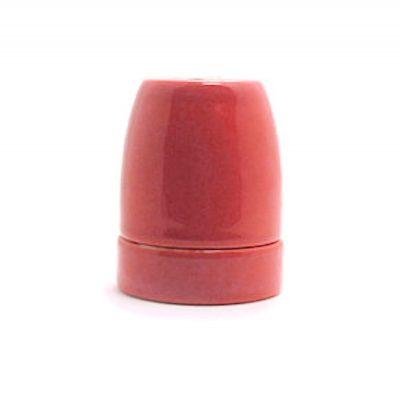 Lakovaná bakelitová objímka E27 • červená (4)