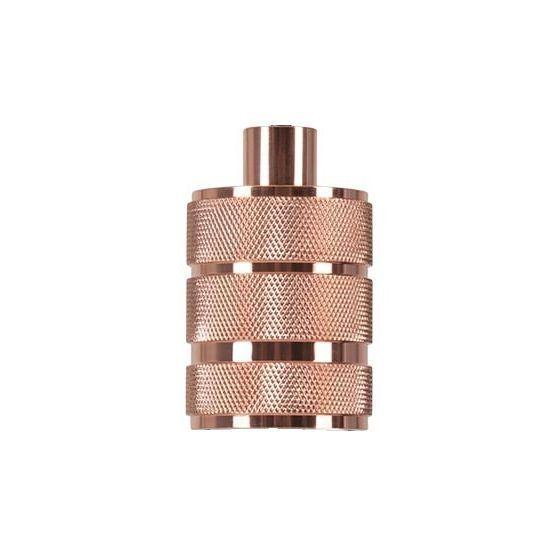 Masívna retro objímka E27 • kov • ružovo zlatá