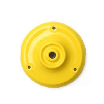 Porcelánový stropný držiak v žltej farbe (2)