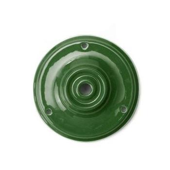 Porcelánový stropný držiak v zelenej farbe (2)