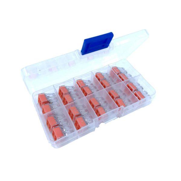 BOX Svoriek na káble - štvopólová, 20ks, transparentné