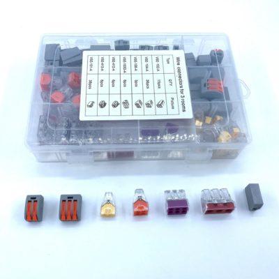 BOX Svoriek na káble - MIX, 110ks, farebné (3)