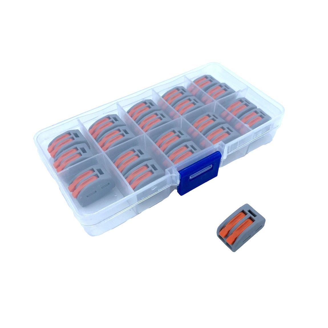 BOX Svoriek na káble - dvojpólové, 20ks, šedé